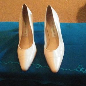 Cream color heels ready for spring